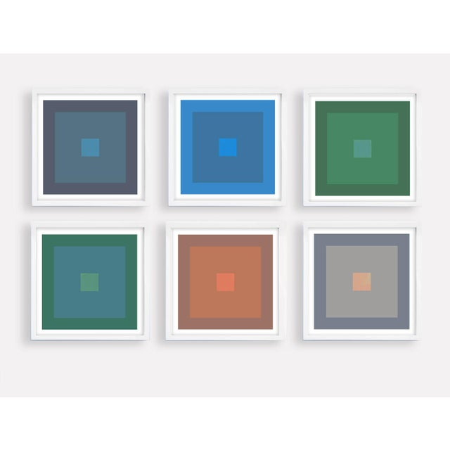 Blue Modern Colorful Geometric Prints - Set of 6 Unframed For Sale - Image 8 of 8