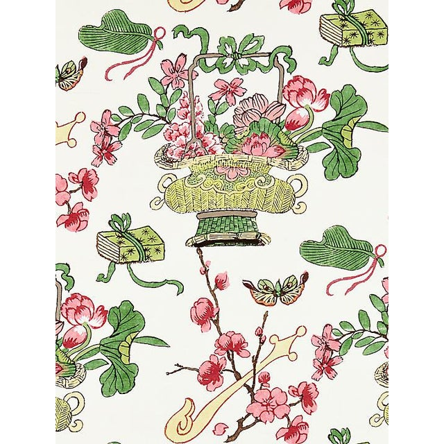 Chinoiserie Sample, Scalamandre Shanghai Blossoms, Spring Fabric For Sale - Image 3 of 3