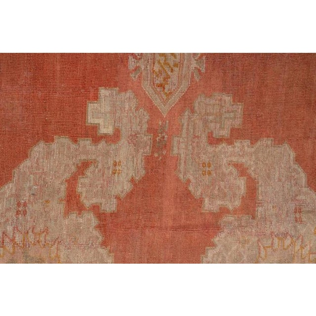 "Textile 1960s Vintage Oushak Rug 10' X 12'2"" For Sale - Image 7 of 8"