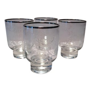 Vintage Double Old Fashion Cocktail Glasses - Set of 4 For Sale