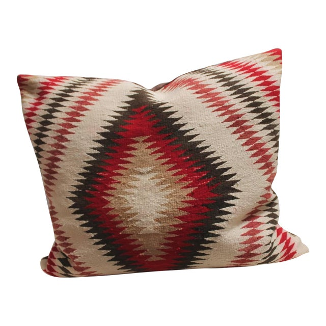 Monumental Navajo Indian Eye Dazzler Weaving Pillow - Image 1 of 3