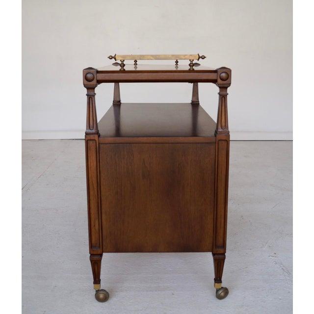 Mid-Century Marble Top Bar Cart