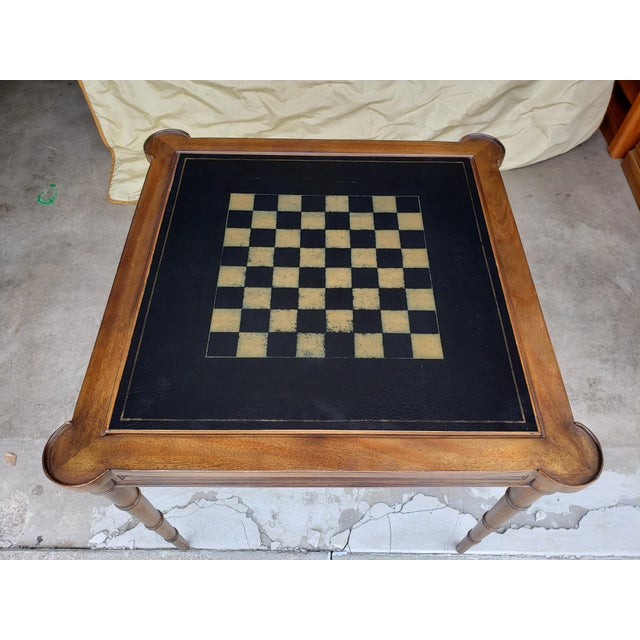 """Very sharp looking vintage Drexel game table from their late-70's/early 80's """"Et Cetera"""" collection. The frame is solid..."""