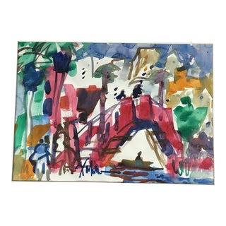 Henry Fukuhara Watercolor on Paper For Sale