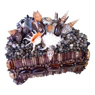 Dark and Stormy, Shelled Treasure Chest by Coquillage Artist, Original For Sale