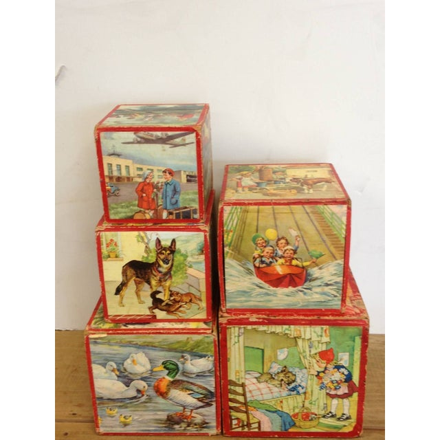 Vintage Preschool Nesting Blocks - Set of 5 - Image 6 of 6