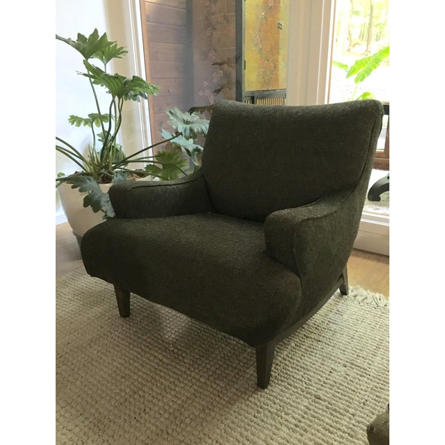 Mid-Century Modern Upholstered Lounge Chair - Image 4 of 9