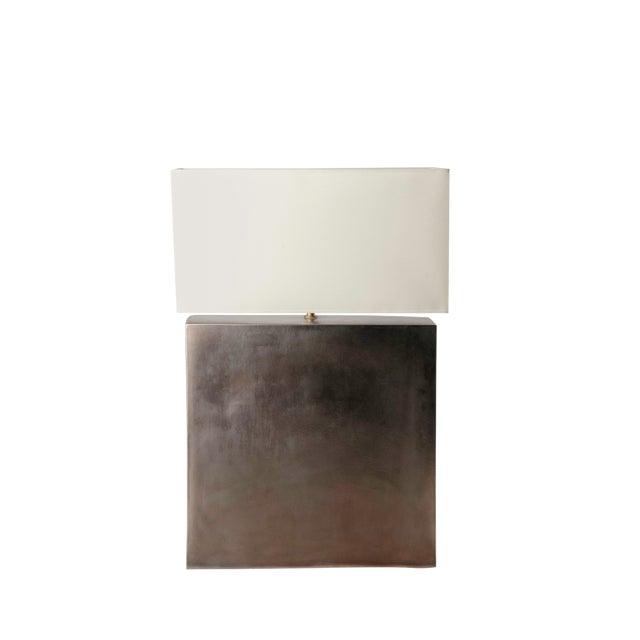 Platinum Glazed Ceramic Table Lamp - Image 1 of 7