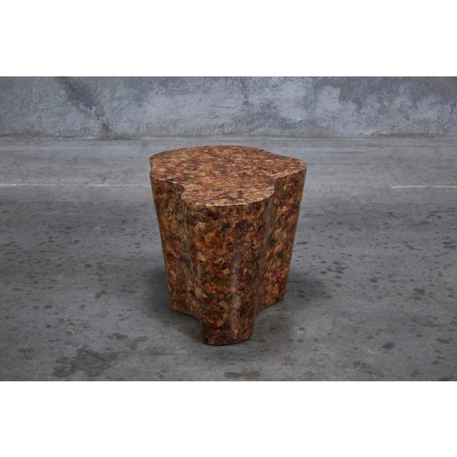 """Contemporary 1990s Contemporary Freeform """"Clouds"""" Side Table With Petal Shell Inlay For Sale - Image 3 of 13"""