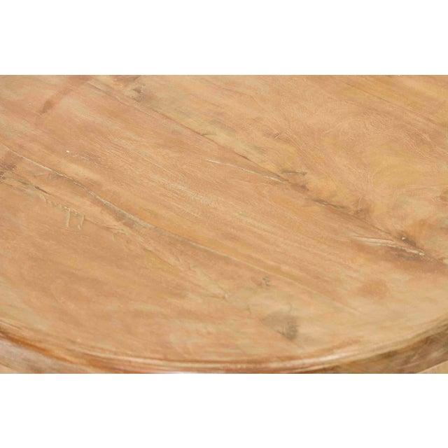 Round Teak Cricket Table - Image 3 of 3