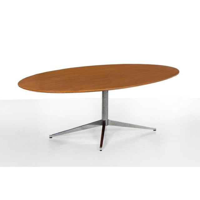Mid-Century Modern Florence Knoll Dining Table or Desk For Sale - Image 3 of 8
