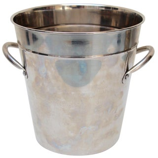 Silverplated Ice Bucket with Handles For Sale