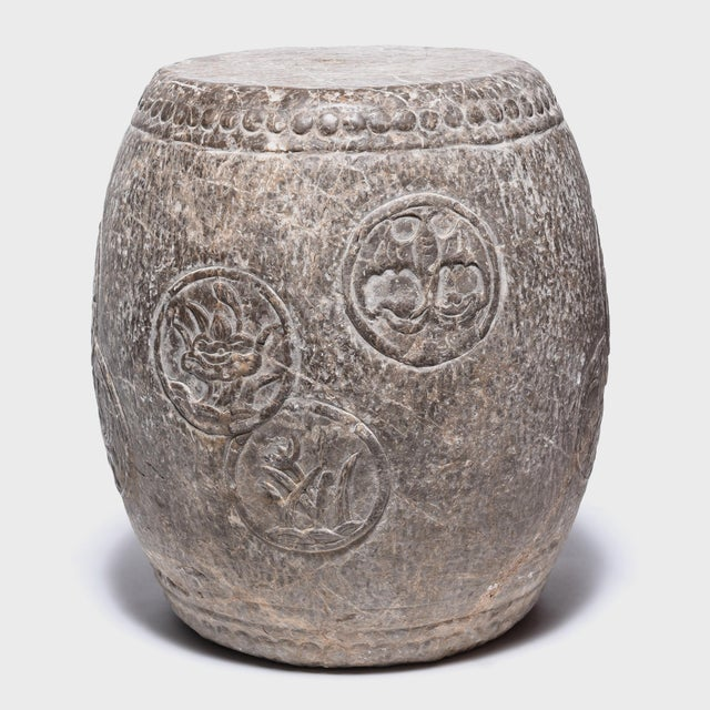 Asian Chinese Charm Stone Drum For Sale - Image 3 of 6