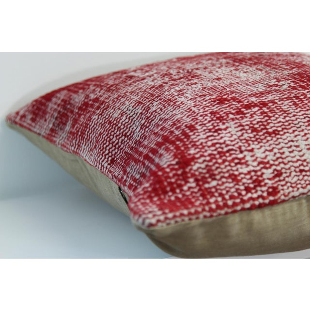 Vintage Red Overdyed Pillow Cover - Image 5 of 7
