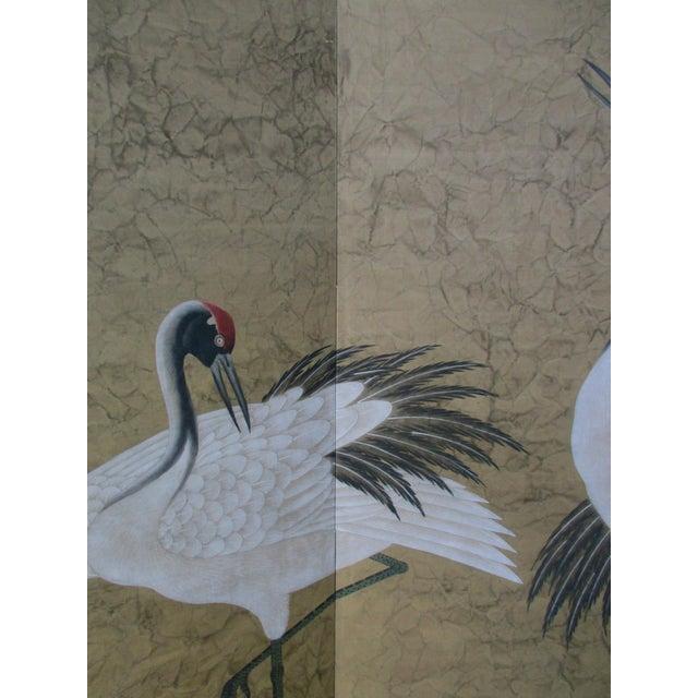 Asian Modern Chinoiserie Folding Screen - Image 5 of 11