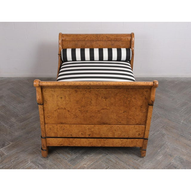 Wood Early 19th Century French Empire-Style Burled Daybed For Sale - Image 7 of 12
