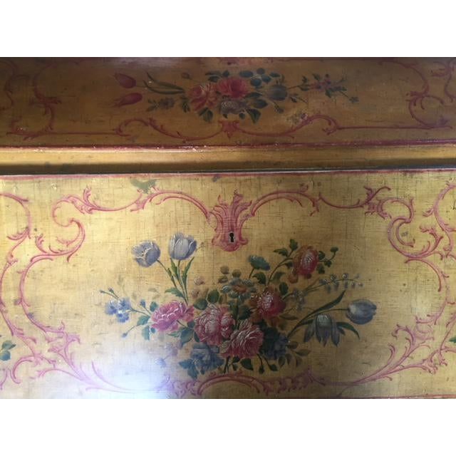 Late 19th Century Italian Painted Commode/ Slant Front Writing Desk For Sale - Image 11 of 13