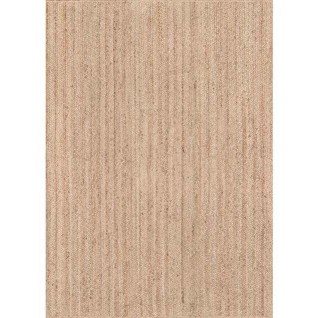 """Textile Erin Gates by Momeni Westshore Waltham Brown Natural Jute Area Rug - 5' X 7'6"""" For Sale - Image 7 of 7"""