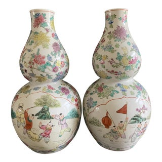 Late 20th Century Chinese Vases - a Pair For Sale