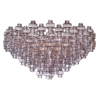 Gray Manubri Murano Glass Chandelier For Sale