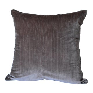 Scalamandré 100% Silk Velvet Mauve Strie Pillow For Sale