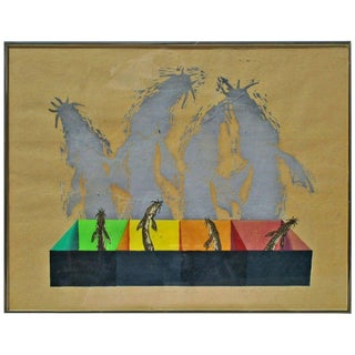 Chinese Silk Screen Lithograph For Sale