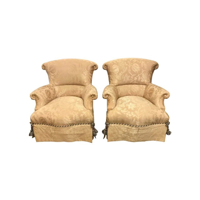 Pair of Baker Ox Back Vintage Armchairs For Sale - Image 11 of 11