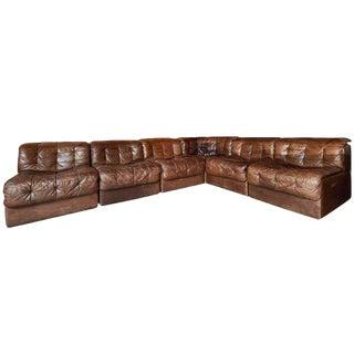De Sede Ds 11 Modular Patchwork Leather Sectional Sofa
