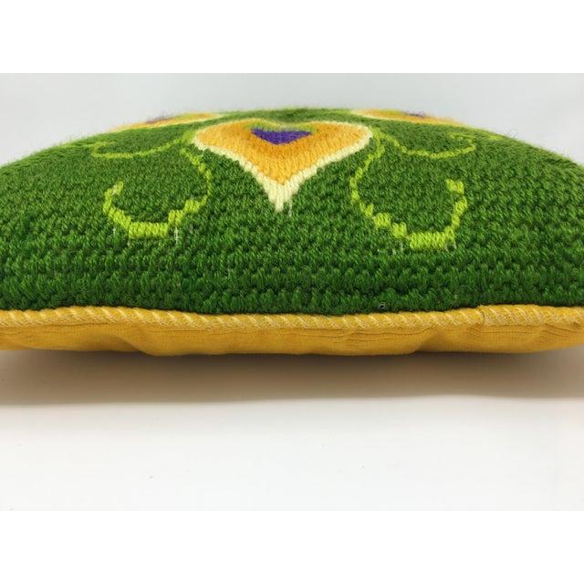Mid-Century Modern Artful, Handmade Crewel Pillow For Sale In Minneapolis - Image 6 of 8