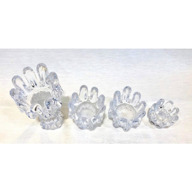 Set of 12 Crystal Candleholders For Sale - Image 4 of 6