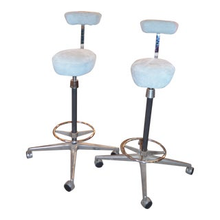 1960s Vintage George Nelson Perch for Herman Miller Drafting Stools- A Pair For Sale