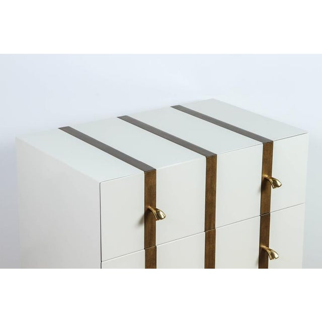 Not Yet Made - Made To Order Paul Marra 2-Drawer Banded Chest For Sale - Image 5 of 8