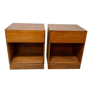 Mid Century Modern Arne Iversen Nightstands - a Pair For Sale