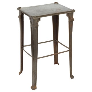 Industrial Cast Iron 1920s Occasional Table For Sale