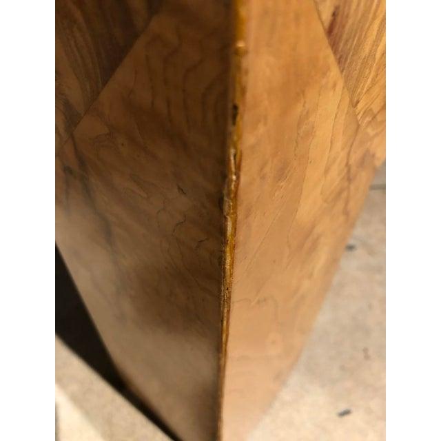 Monumental Milo Baughman Burlwood Coffee Table For Sale - Image 9 of 10