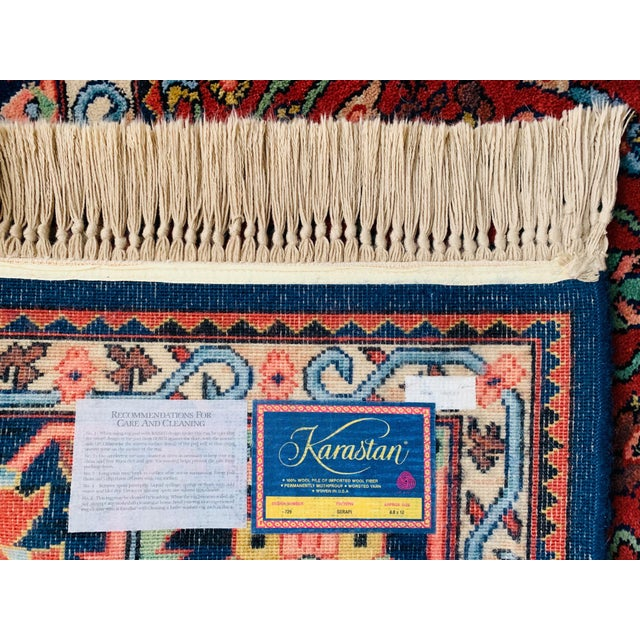 Persimmon Vintage Serapi #729 Karastan Wool Rug - 8′8″ × 12′ For Sale - Image 8 of 11