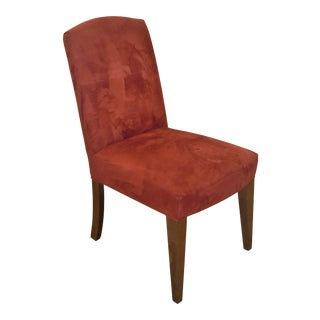 Modern Mitchell Gold Red Micro Suede Dining Chair For Sale