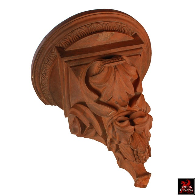 Late 19th Century Large Terracotta Corbel Wall Bracket For Sale - Image 5 of 11