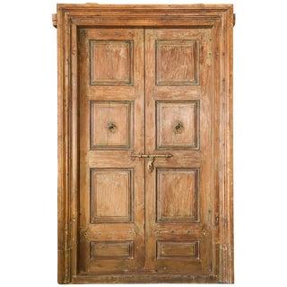 1850s Vintage Solid Teak Wood Entry Door For Sale