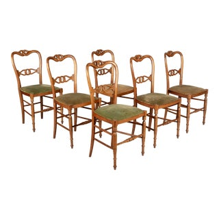 19th Century French Parlor Chairs - Set of Six For Sale