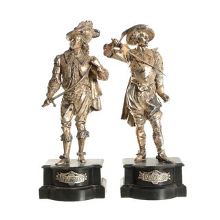 "20th Century Industrial Metal ""Don Juan"" and ""Don Caesar"" Sculptures - Set of 2"