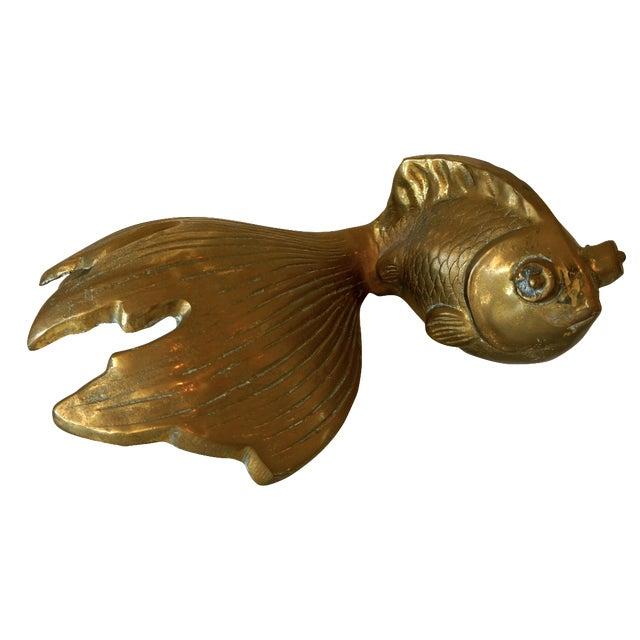 Vintage Brass Koi Fish - Image 1 of 4