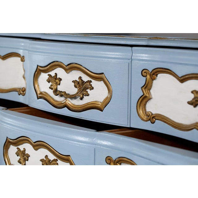 Karges French-Style Blue & White Dresser For Sale - Image 5 of 7