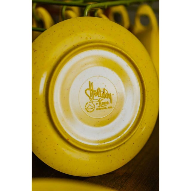 Holiday by Kenro Yellow Cups and Saucers - Set of 10 For Sale - Image 10 of 10