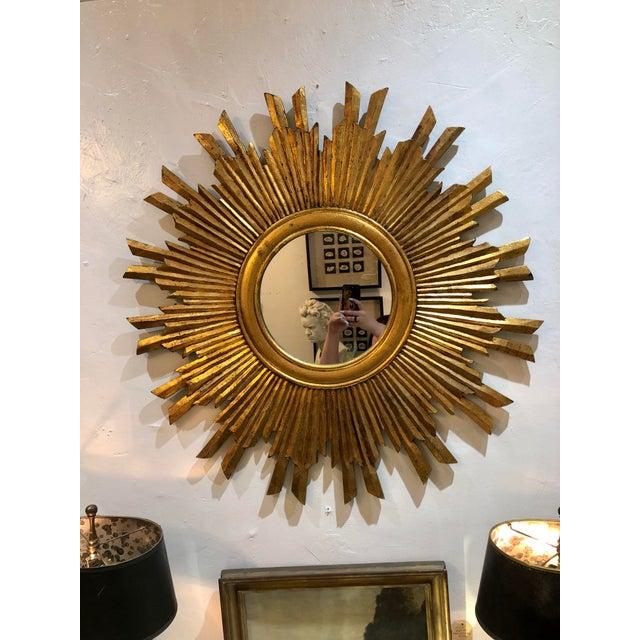 Gilt Wood Sunburst Mirror For Sale - Image 13 of 13