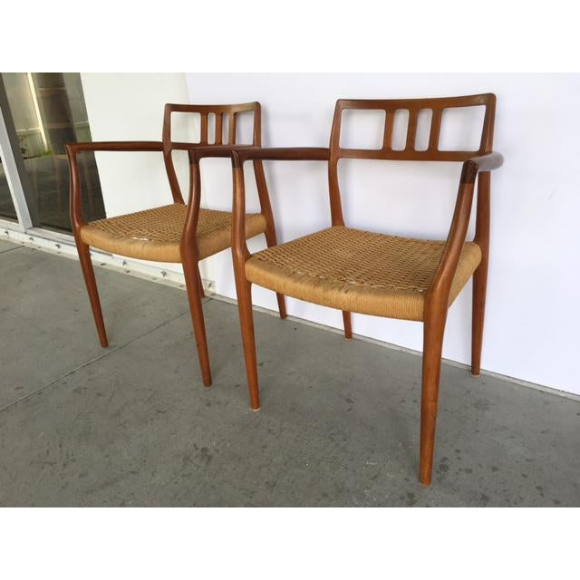 F. Moller Niels Moller Model 64 Danish Modern Chairs - A Pair For Sale - Image 4 of 10