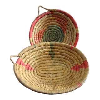 Vintage Native Southwest Coiled Baskets - a Pair For Sale