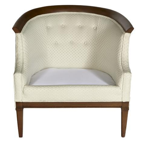 Erwin Lambeth for Tomlinson Furniture Walnut Sculpted Lounge Chair For Sale - Image 5 of 7