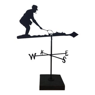 Mid 20th Century Fly Fisherman Weathervane For Sale