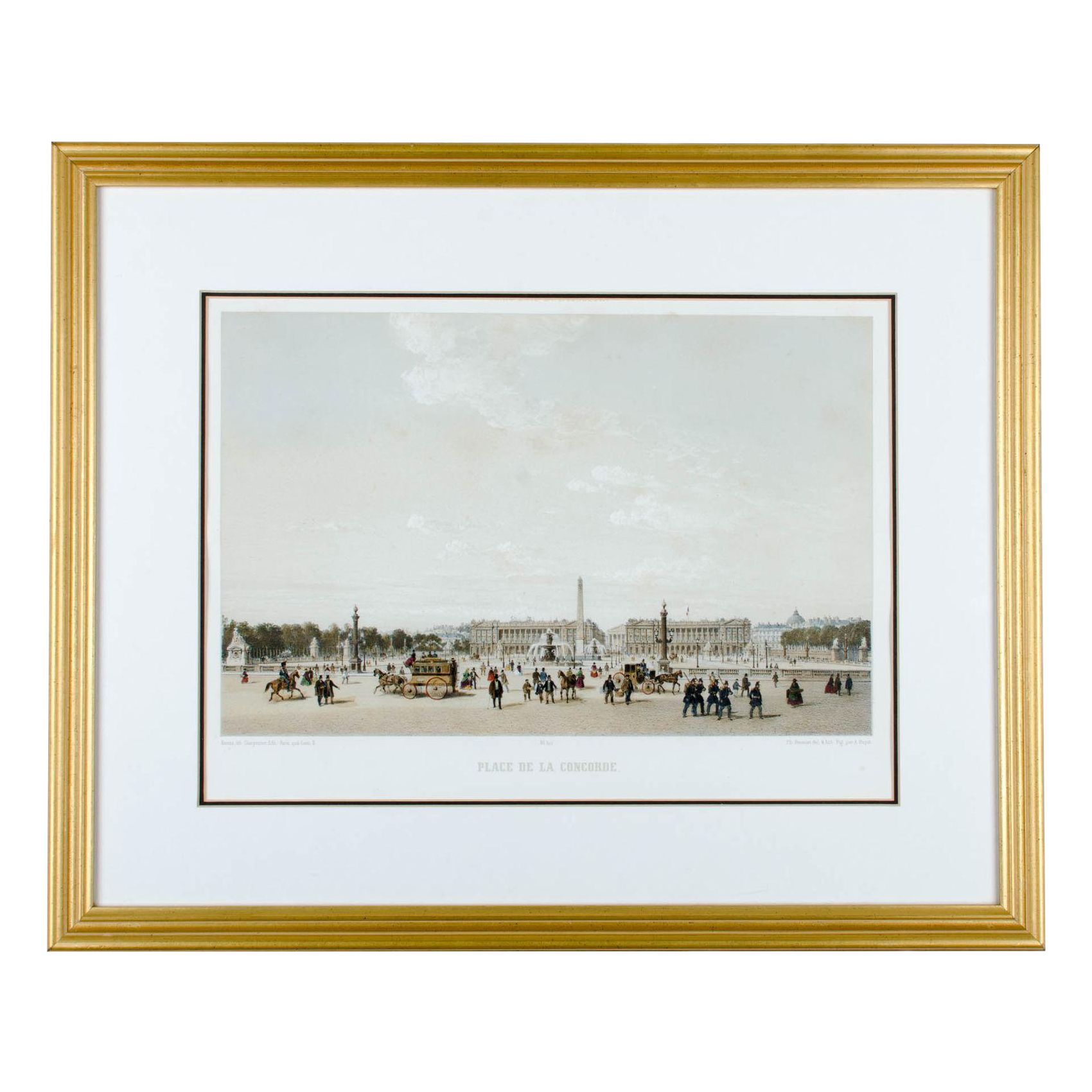 Quot Place De La Concorde Paris Quot By Philippe Benoist Chairish